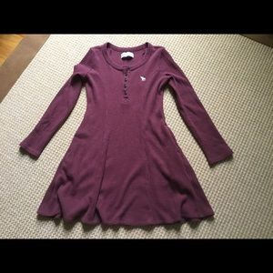 Abercrombie Kids Casual Burgundy Dress